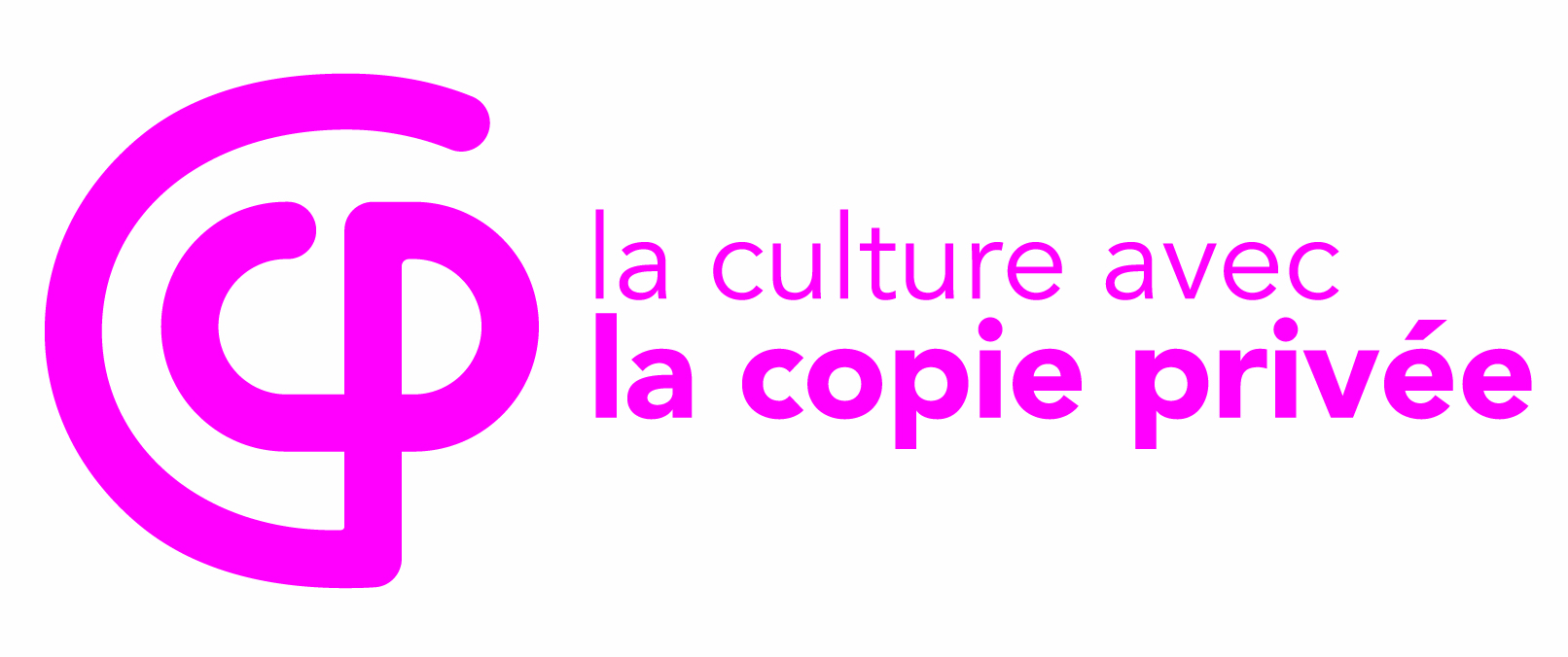 logo copie privee rose